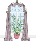 Arched Window Swags 1