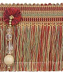 Fringe with Beads and Rosette 3 1/2