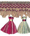 Hand Tied Tassel Fringe 4 in