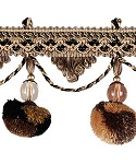 Fringe with Beads 3 1/8